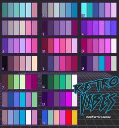80s 90s retrowave color palettes - Album on Imgur