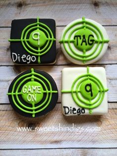 Sweet Shindigs: Laser Tag Party Favors (Cookies)
