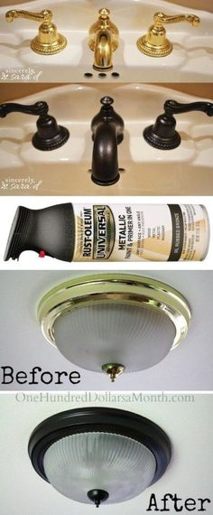 14.-Use-Rust-Oleum-to-paint-outdated-brass-faucets-hardware-and-fixtures-27-Easy-Remodeling-Projects-That-Will-Completely-Transform-Your-Home-