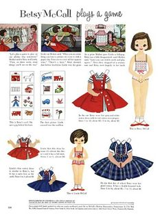 Betsy Mcall Paper Dolls, Oh my very favorite.  My Mom would buy this magazine just so I could get the paper dolls.