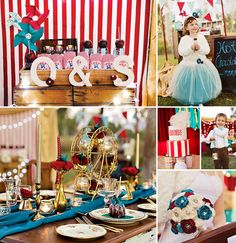 Deep rd, turquoise and gold...potential color mix Fabulous Vintage-Inspired Carnival Wedding Shoot