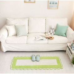 Buy 'iswas – Scallop-Trim Color-Block Mat' with Free Shipping at YesStyle.co.uk. Browse and shop for thousands of Asian fashion items from South Korea and more!