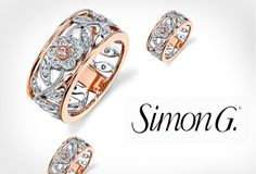 #Simon_G_Simon_Set_MR1902 Merry Richards is an authorized dealer for Simon G. All Simon G products come with full factory warranties. More info visit on to http://www.merryrichardsjewelers.com/