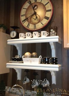 coffee station inspiration - big clock