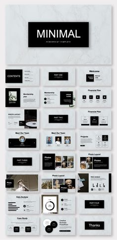 Black & White Minimalist Business Plan Presentation Template – Original and high quality PowerPoint Templates Keynote Design, Design Brochure, Booklet Design, Design Web, Layout Design, Graphic Design, Design Ideas, The Plan, How To Plan