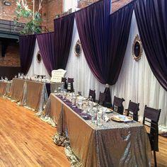 Head Table Wedding, Wedding Reception Backdrop, Wedding Stage, Backdrop Design, Backdrop Ideas, Backdrops, Masquerade Party Decorations, Wedding Decorations, Bride Groom Table