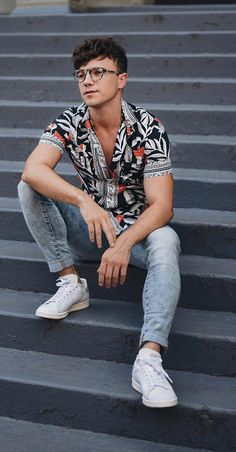 floral print shirt Summer Outfit