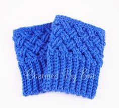 Free Crochet Boot Cuff Socks Patterns | Aislinn Celtic Dream Boot Cuffs Crochet Pattern | Charmed By Ewe