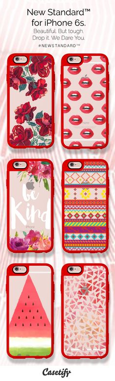 When in doubt, wear red. Order the New Standard phone cases for your iPhone 6S now ($39.95) - http://www.casetify.com/artworks/nV7O5jYItu