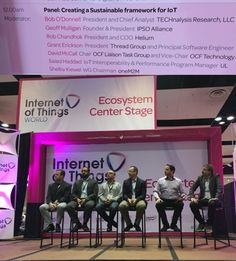A great panel is on right now at #iotworld16 - Creating a Sustainable Framework for #IoT. You can still make it! - Twitter Search