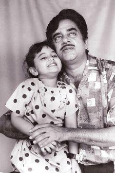 Shatrughan Sinha with baby Sonakshi Sinha