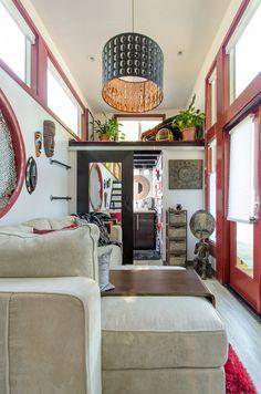 A tiny house on wheels in Charlotte, North Carolina.