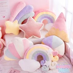 Ins Baby Cushion Rainbow Pillow Love Cushion Pink Girl Heart Super Soft Sofa Cloud Cushion Gift Bedroom Decoration Cute Cushions, Cute Pillows, Diy Pillows, Girl Bedroom Designs, Girls Bedroom, Bedroom Decor, Cute Room Ideas, Cute Room Decor, Moon Pillow
