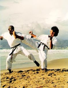 Santa Monica Los Angeles California 1988  Sensei James Field y Sensei Marcos Moron Novaro