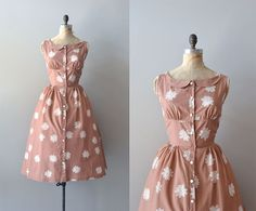vintage 1950s dress / cotton 50s dress / Spiroflower dress on Etsy, $224.00