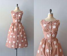 r e s e r v e d...vintage 1950s dress / cotton 50s dress / Spiroflower dress