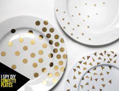 MY DIY   Confetti Plates   I SPY DIY