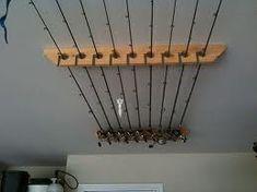 overhead fishing rod holder