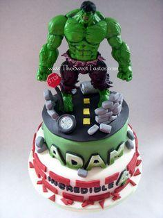 Incredible Hulk birthday cake  Cake by thesweettastes