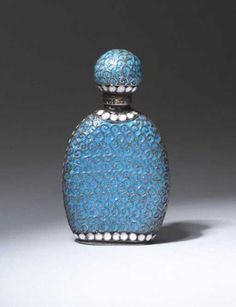 Russian scent bottle, circa 1900, in silve, Lot Number: 0008, Starting Bid: $700, Auctioneer: Rago Modern Auctions, LLP, Auction: Lalique and Perfume Presentations Auction, Date: November 1st, 2003 EST