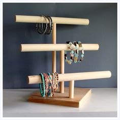 Three Tier Jewelry Watch & Headband by TheWoodshopsDaughter, $45.00 www.bionto.com