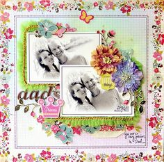 SCRAP ADDICT: 'Dad's Princess' Layout - My Creative Scrapbook July Limited Edition Kit - Webster's Pages - Plum Seed