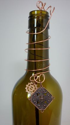 Incense Burner Repurposed Wine Bottle with by unWINEdBottles, $15.00
