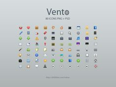 vento Top 50 Free Mini Icon Sets