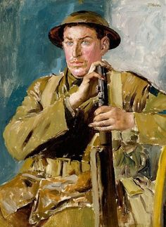 Canadian soldier by Augustus John OM