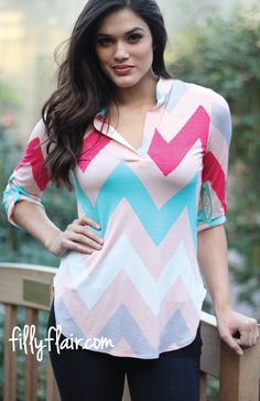 e40586875 Always Faithful Chevron in Pink - Filly Flair