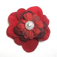 Rich Dark Red Velvet Hair Flower Clip -- For more information, visit image link. (This is an affiliate link) #HairClips