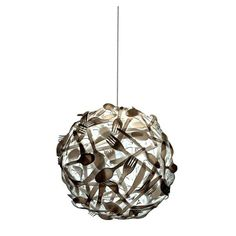 Mexican designer Luis Luna designed an upcycle design pendant lamp called 'GLUTTONY. The lamp is made out of plastic cutlery glued together.