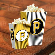 Pittsburgh Pirates Sports Party Popcorn Boxes