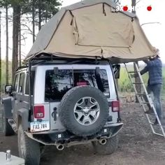 Truck Tent Camping, Jeep Tent, Suv Tent, Jeep Camping, Camper Equipment, Hummer Cars, Airstream Living, Suv Trucks, Cool Inventions