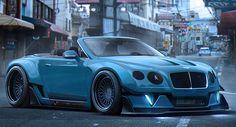 Widebody #Bentley Continental GT Convertible