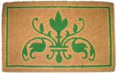 Imports Decor Printed Coir Doormat, Natural Insignia, 18-Inch by 30-Inch ** Check this awesome image  (This is an amazon affiliate link. I may earn commission from it)