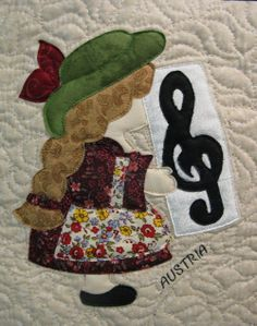 AUSTRIA Sunbonnet Sue block at MooseStash Quilting. from: International Sunbonnet Sue by Debra Kimball
