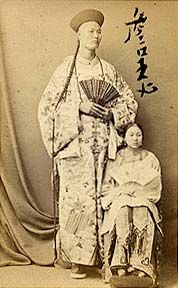 """The Chinese Giant was an intellectual, kind, and well read man. In 1881, P. T Barnum contracted Chang to his Greatest Show on Earth.  At $600 a week he was one of the most well paid attractions of his time. He was billed as a giant """"as strong as Heracles"""" and """"as beautiful as Apollo.""""  Chang passed away in 1893 at the age of 48."""