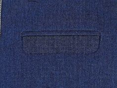 Double welt pocket with a flap, How to sew.