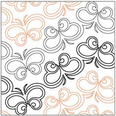 Butterfly Ballet quilting pantograph pattern by Lorien Quilting