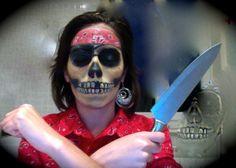 Pirate skull - teschio pirata makeup tutorial by Federica - YouTube