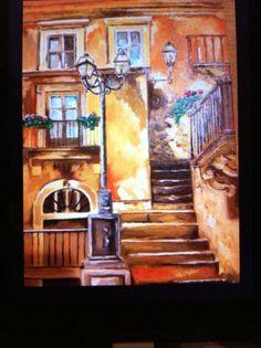 Oil Paint Scorcio di Roma Olio su tela 20 x 30