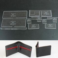 Wuta Short Bifold Wallet Leather Template Acrylic Pattern 915-B | Crafts, Leathercrafts, Leathercraft Tools | eBay!
