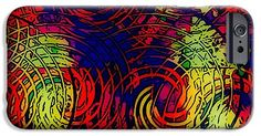 Colorful IPhone 6s Case featuring the digital art Design Art by Caroline Gilmore