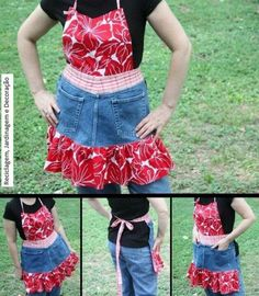 Jeans to apron