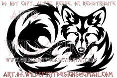 Curled Fox Tribal Design by WildSpiritWolf on DeviantArt