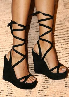 Black Lace Heels, Black Wedge Shoes, Black Prom Heels, Black Heals, Lace Up Shoes, Boho Wedding Shoes, Wedge Wedding Shoes, Wedding Wedges, Tie Up Heels