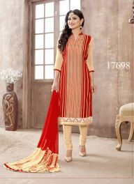 #Actress #Mouni #Roy Special #Dress Collection from India Supplier.Viva N Diva Beige & Red Colored Pure Cambric #Wholesale #Salwar Suit. #Naagin #StartPlus