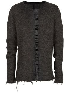 ISAAC SELLAM EXPERIENCE - Frayed knit sweater 6