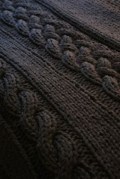 Chunky Cable Knit Throw Blanket Pattern $6 available on Etsy at ErinBlacksDesigns